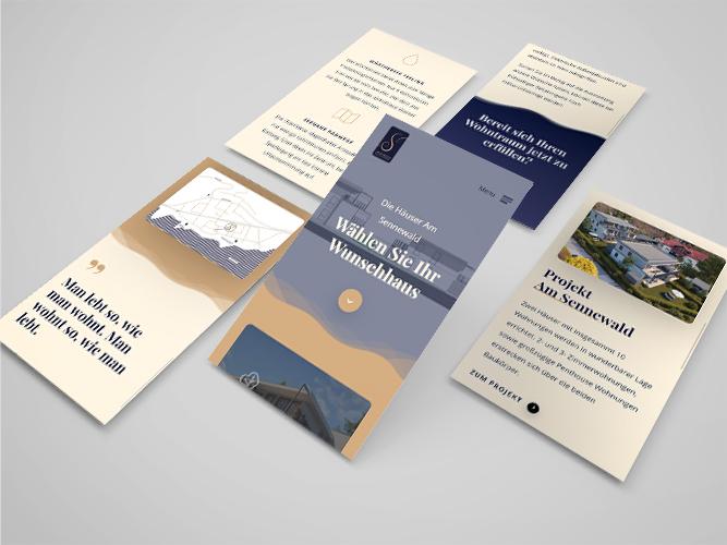 Präsentationswebseite für das Wohnprojekt Am Sennewald
