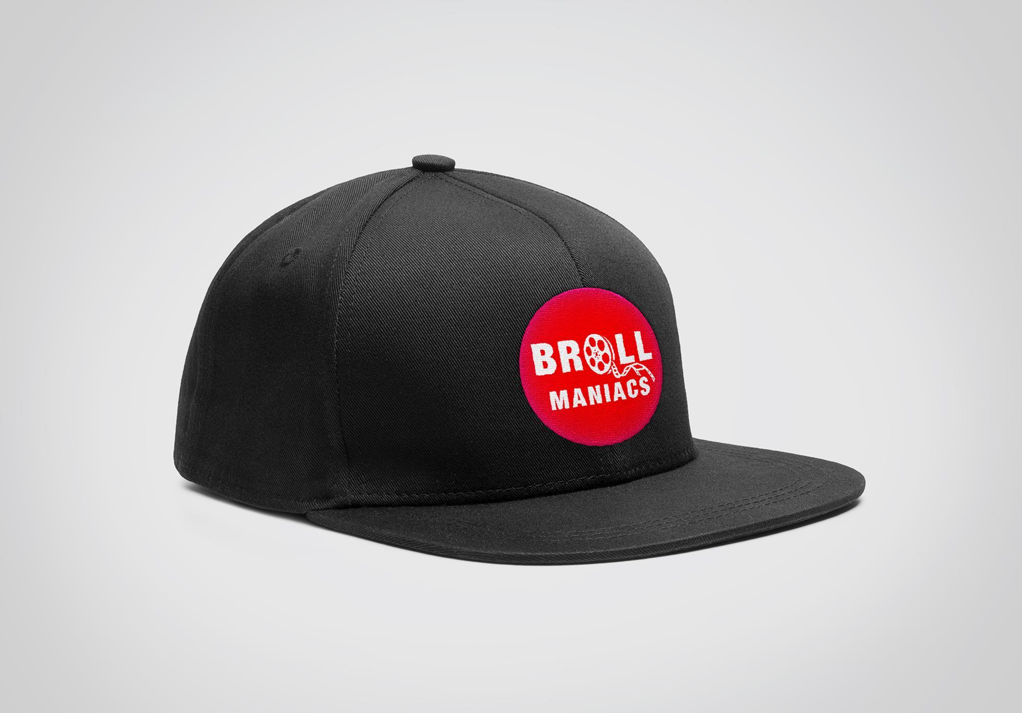 B-Roll Maniac's Logo auf Snapback Cap