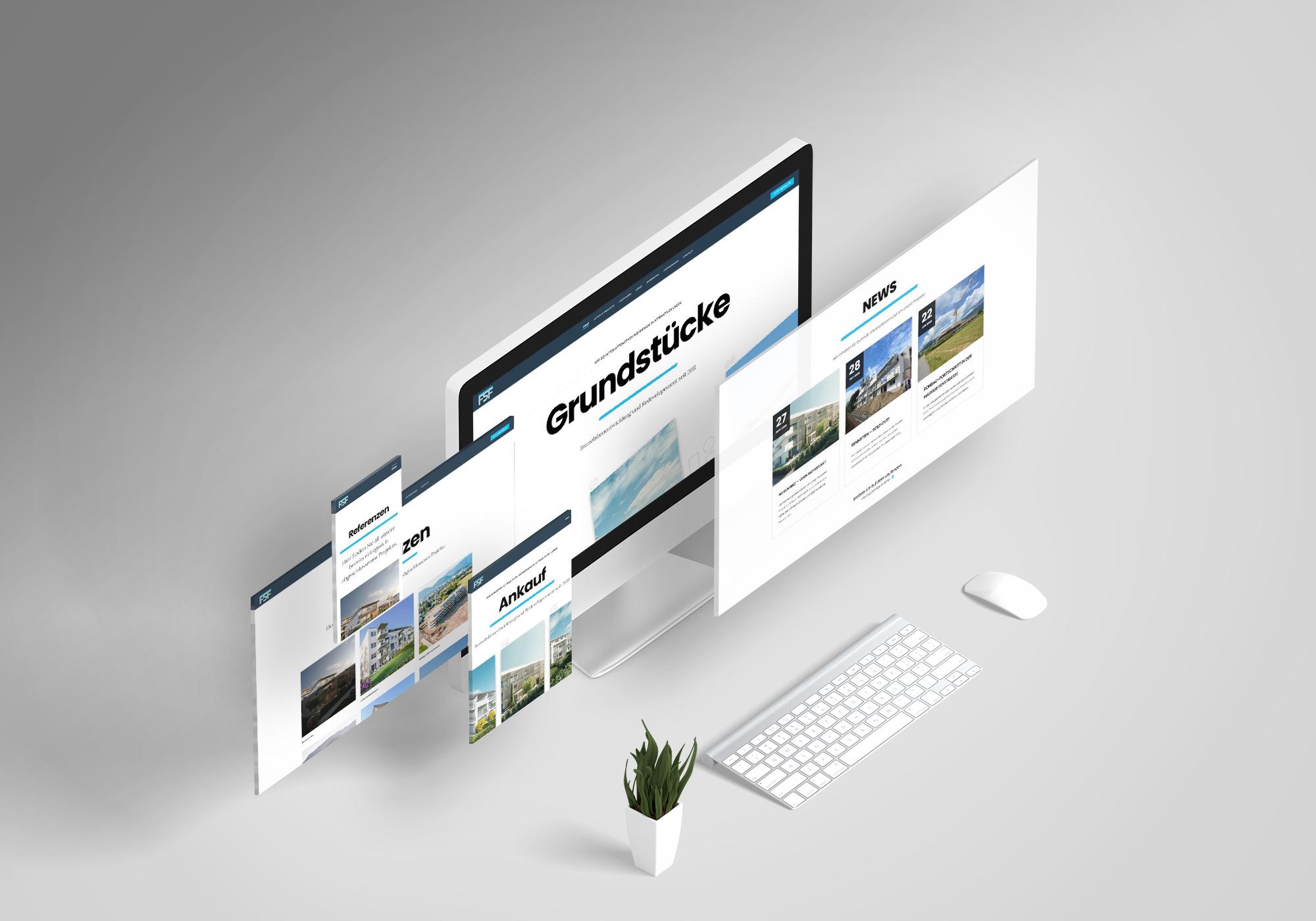 Website Redesign für FSF Immobilien GmbH